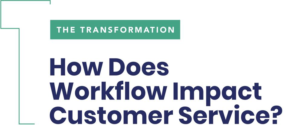 The Transformationow Does Workflow Impact Customer Service?