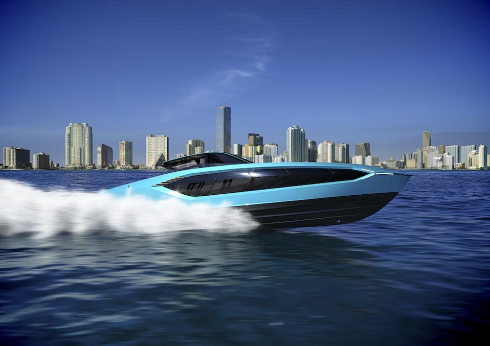 Tecnomar for Lamborghini 63 performance motor yacht for 2021