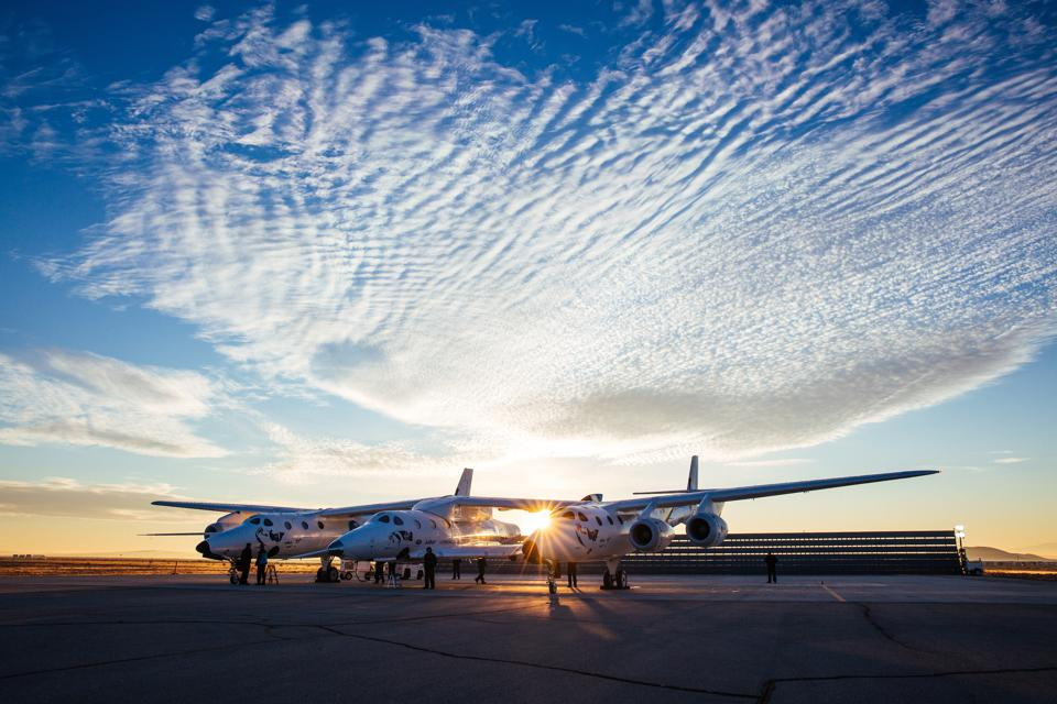 Virgin Galactic's Carrier Aircraft, VMS Eve and VSS Unity Prepare for Flight