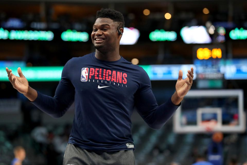 New Orleans Pelicans v Dallas Mavericks. Zion Williamson