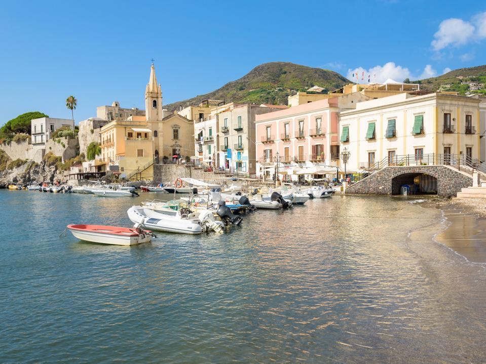 Lipari town on Aeolian Islands