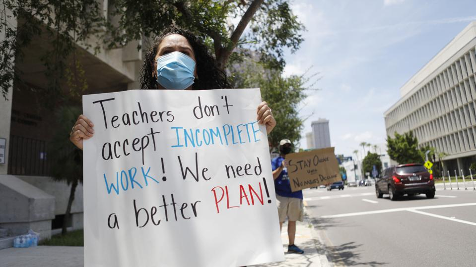 Teachers Protest Reopening Schools Amid Pandemic