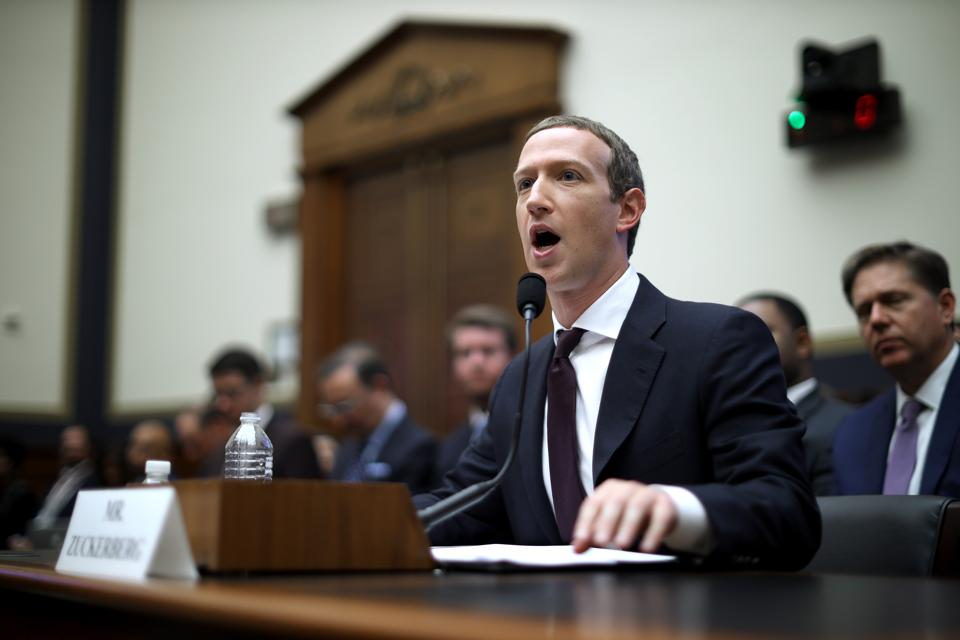 Facebook CEO Mark Zuckerberg Testifies Before The House Financial Services Committee