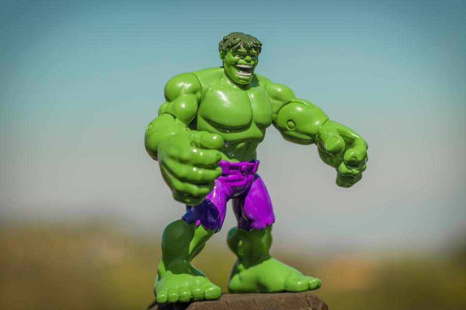 Action figure of Hulk