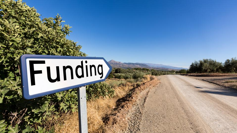 Road sign for funding of start up venture capital