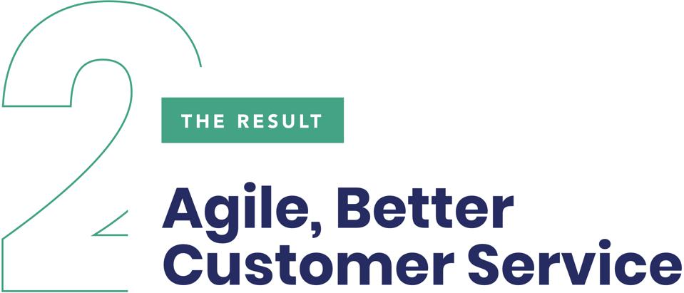 The Result Agile, Better Customer Service