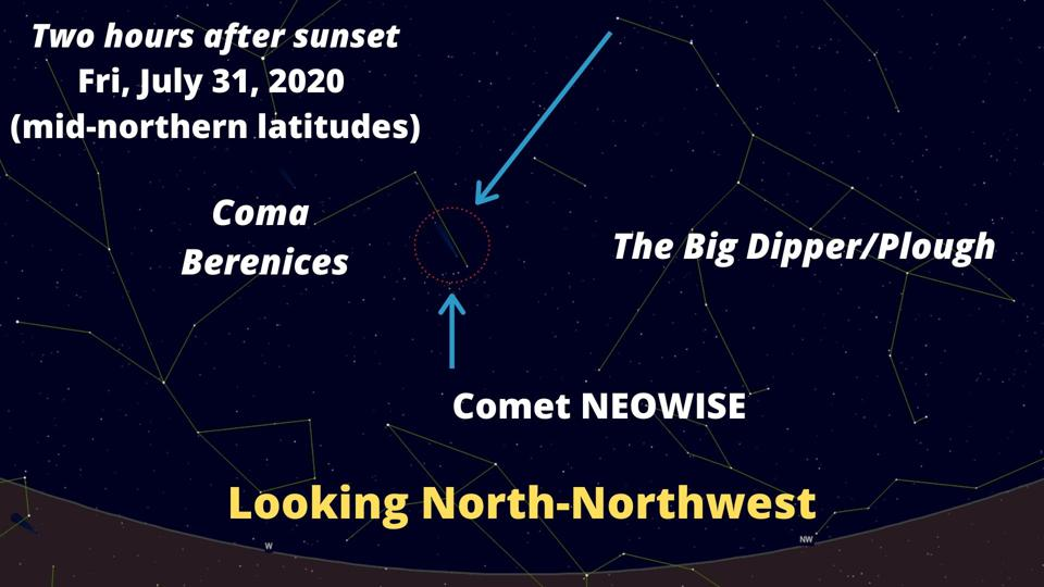 How to find Comet NEOWISE on Friday, July 31, 2020