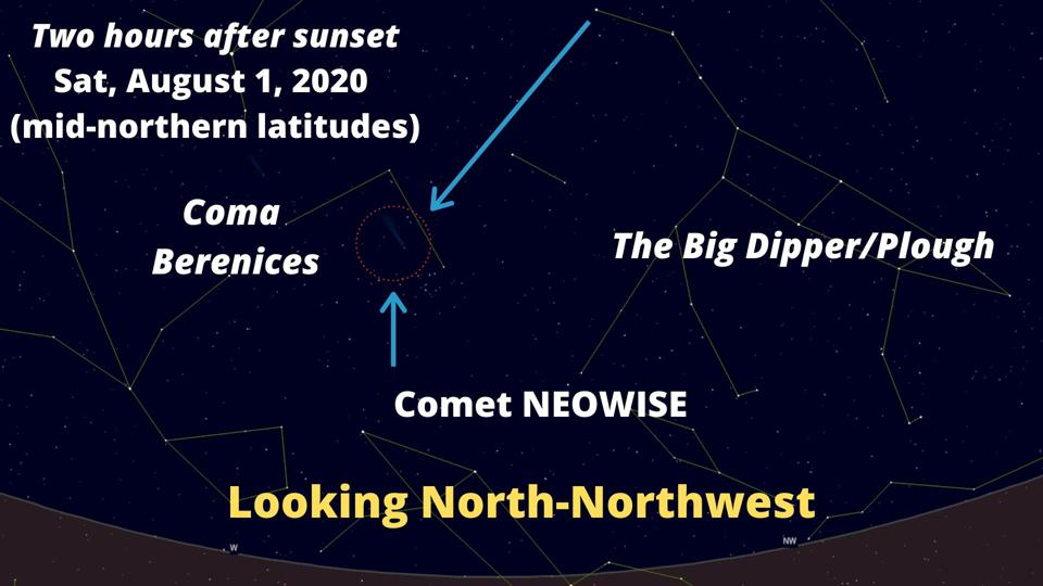 How to find Comet NEOWISE on Saturday, August 1, 2020