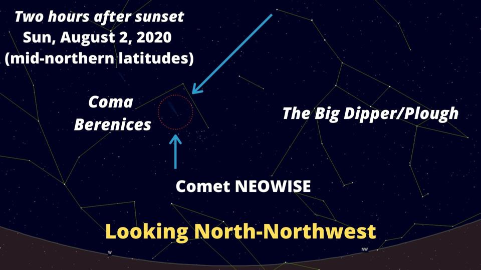 How to find Comet NEOWISE on Sunday, August 2, 2020