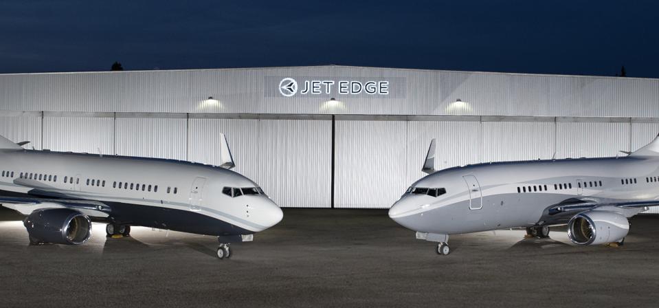 Planes at the Jet Edge hangar