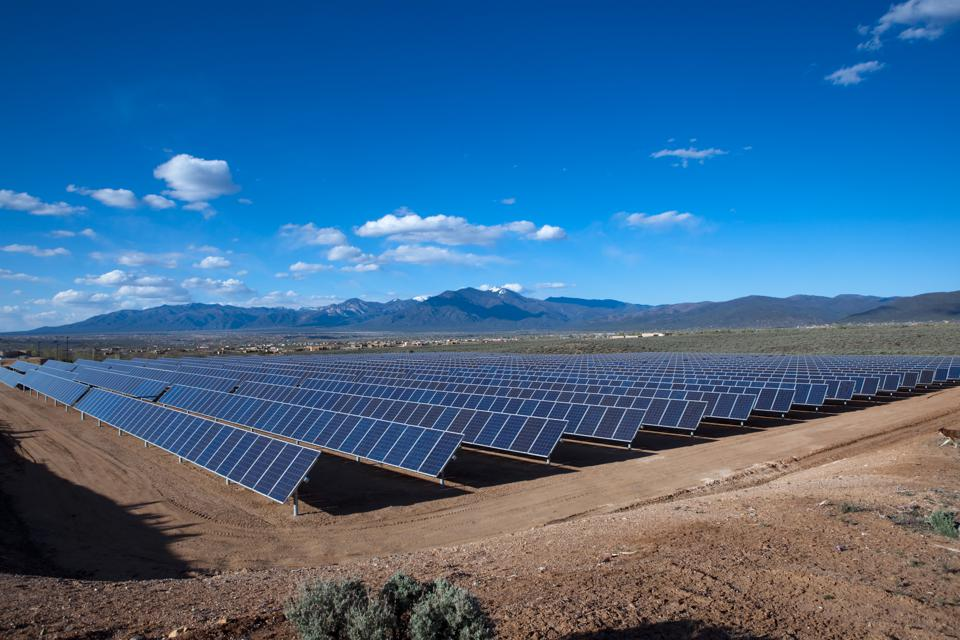 Solar farm in New Mexico