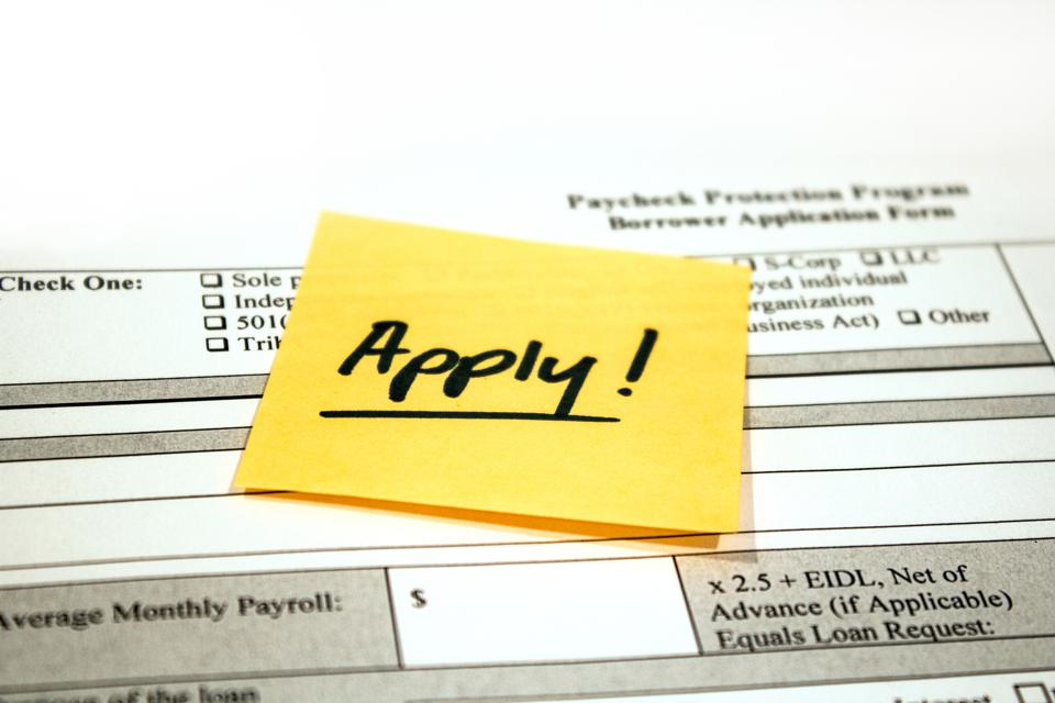 Paycheck Protection Program Application and Reminder Note
