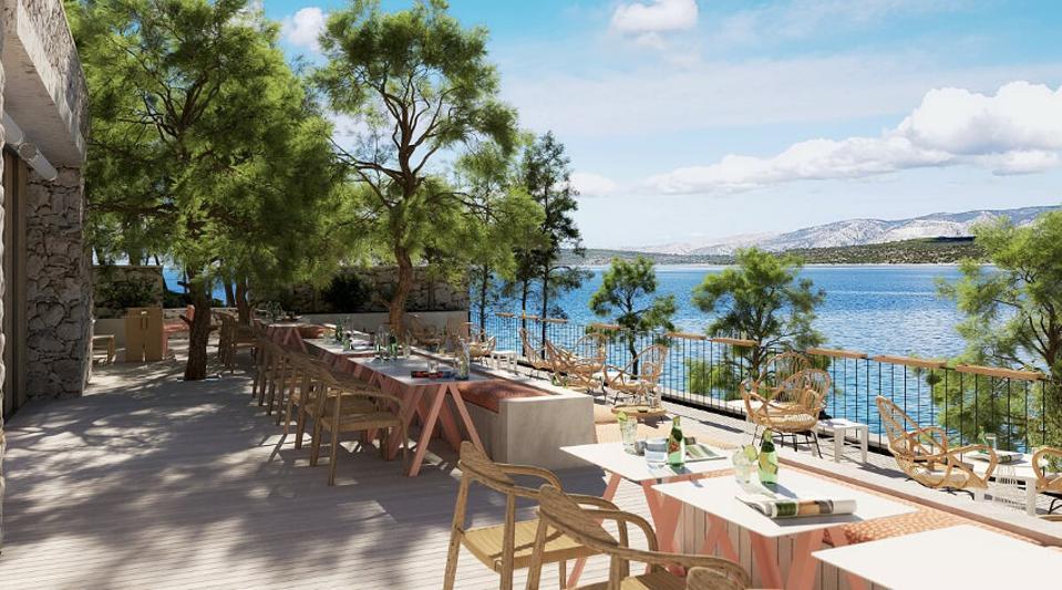Sea views from the restaurant at Maslina Resort