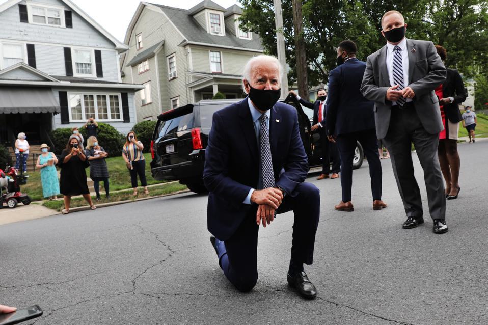 Presidential Candidate Joe Biden Delivers Remarks In Pennsylvania