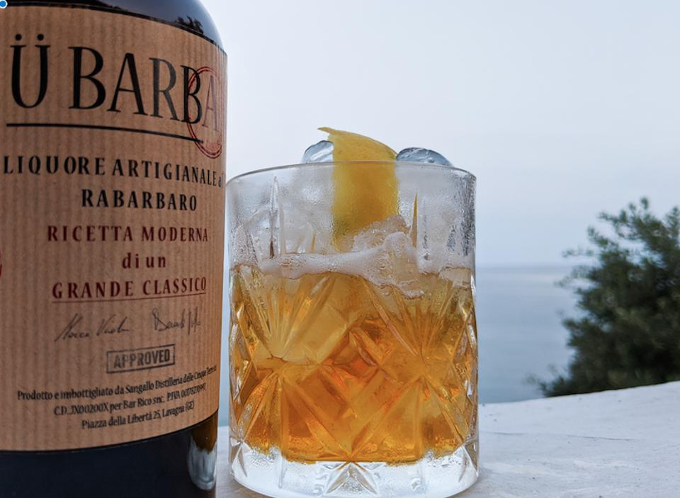 The Ü Barba cocktail is made with handmade Liguria liquor.