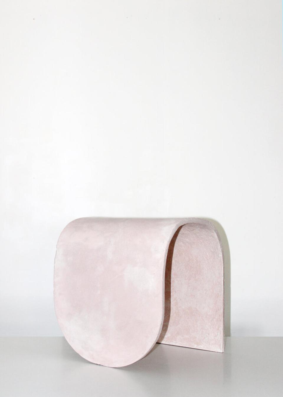 bent concrete stool