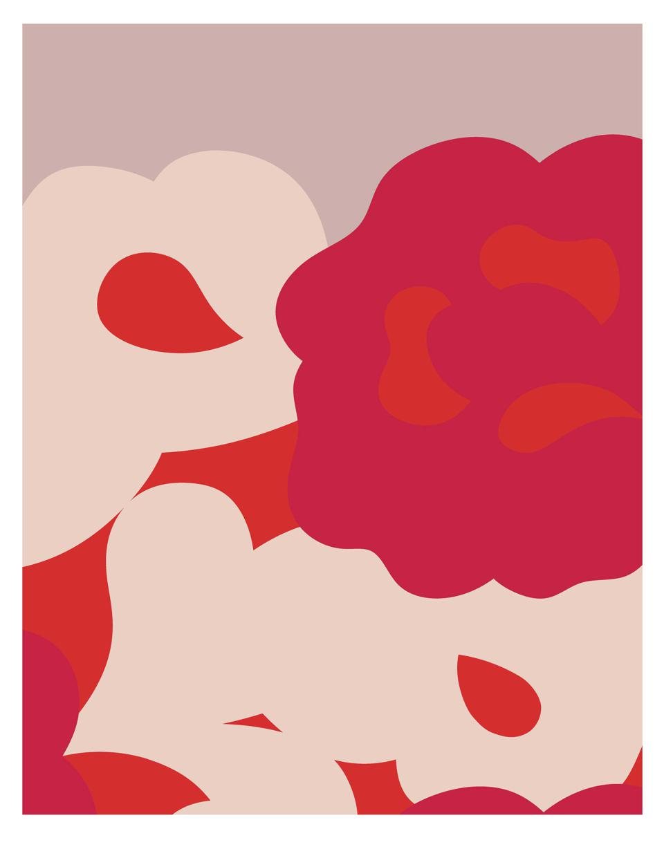 print with big flowers in pink