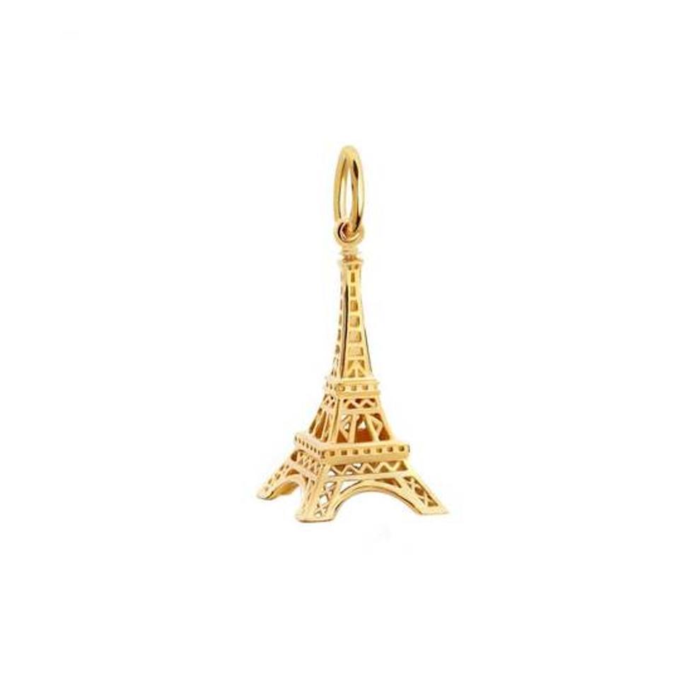 Eiffel Tower miniature gold charm