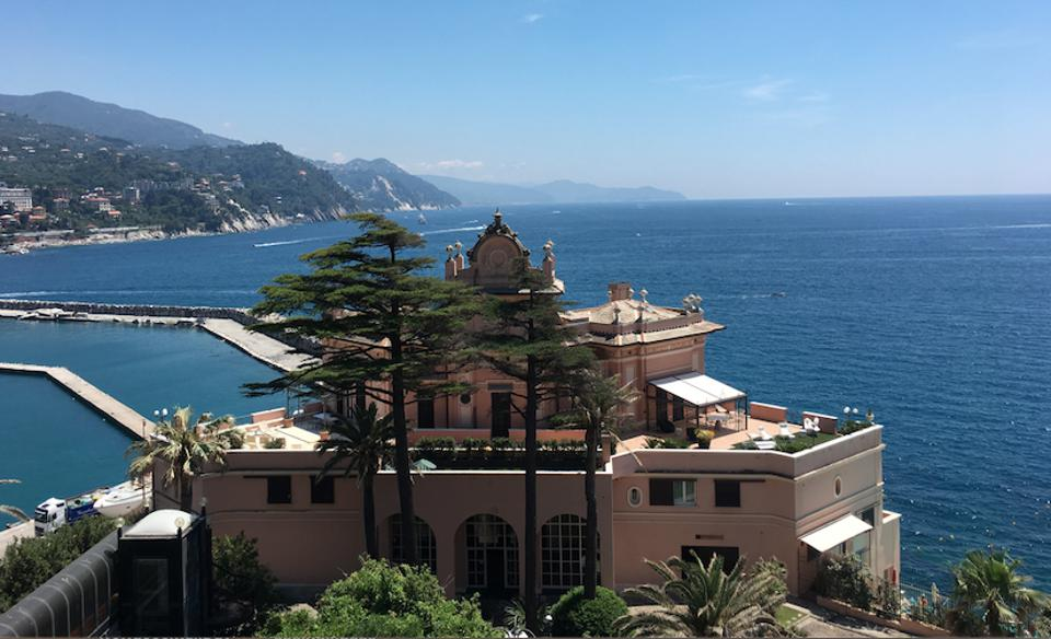 One of the beautiful views of the Excelsior Palace Hotel in Rapallo
