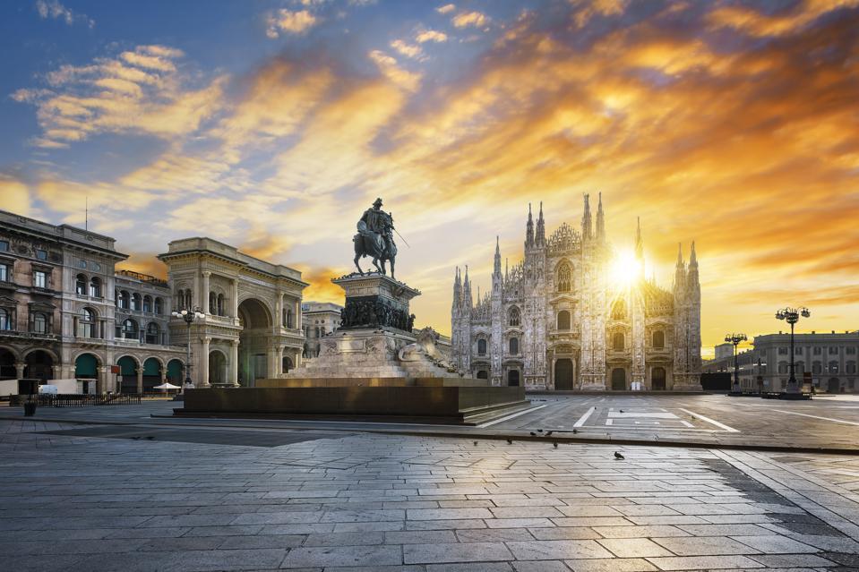 Duomo at Sunrise, Milan, Italy