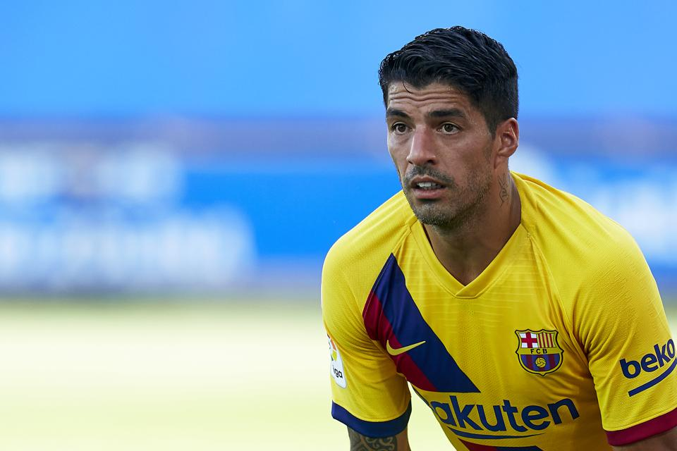 FC Barcelona's Luis Suarez has an offer to leave for the MLS.