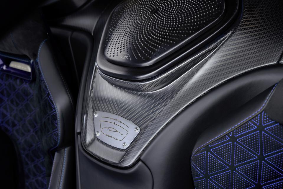 Interior shot of Naim Audio system fitted in Battista hypercar