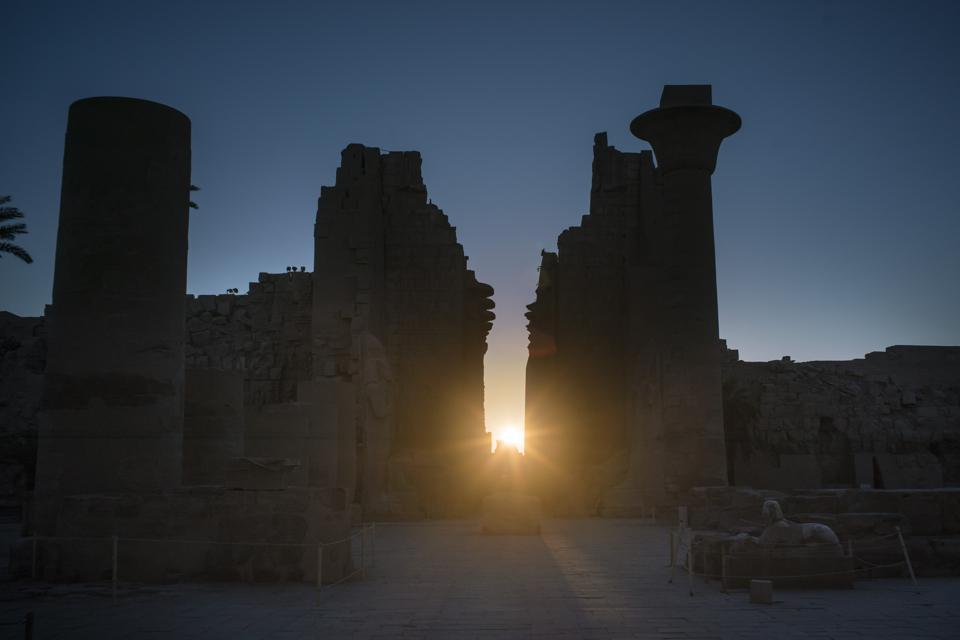 The Karnak Temple during the winter solstice on December 17, 2015 in Luxor, Egypt. (Photo by David Degner/Getty Images).