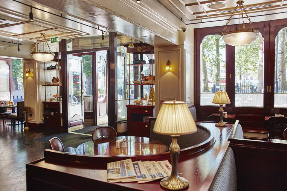 The interior of the Bellanger restaurant in London