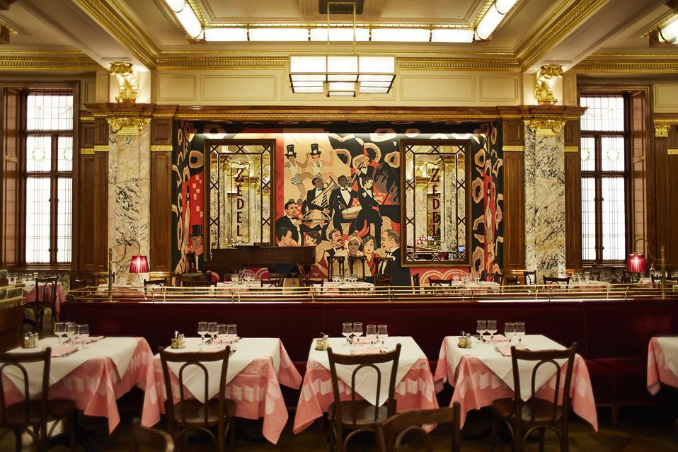 Tables at Brasserie Zedel