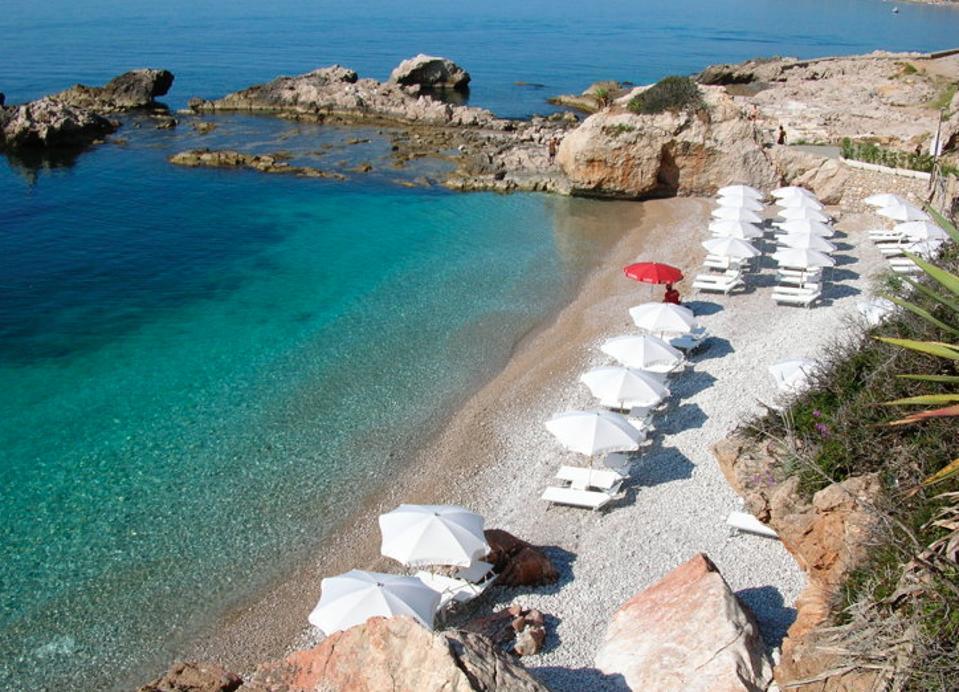 Balzi Rossi Beach.