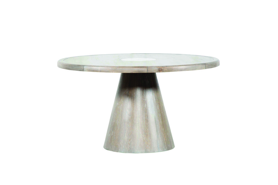 Pavillion Round Dining Table: round metal dining table from Nate Berkus and Jeremiah Brent from Living Spaces.