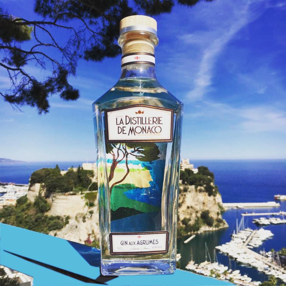 La Distillerie de Monaco's Gin aux Agrumes combines seven local citrus.