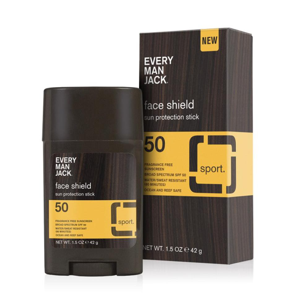New Every Man Jack SPF 50 Face Shield Sunscreen Stick