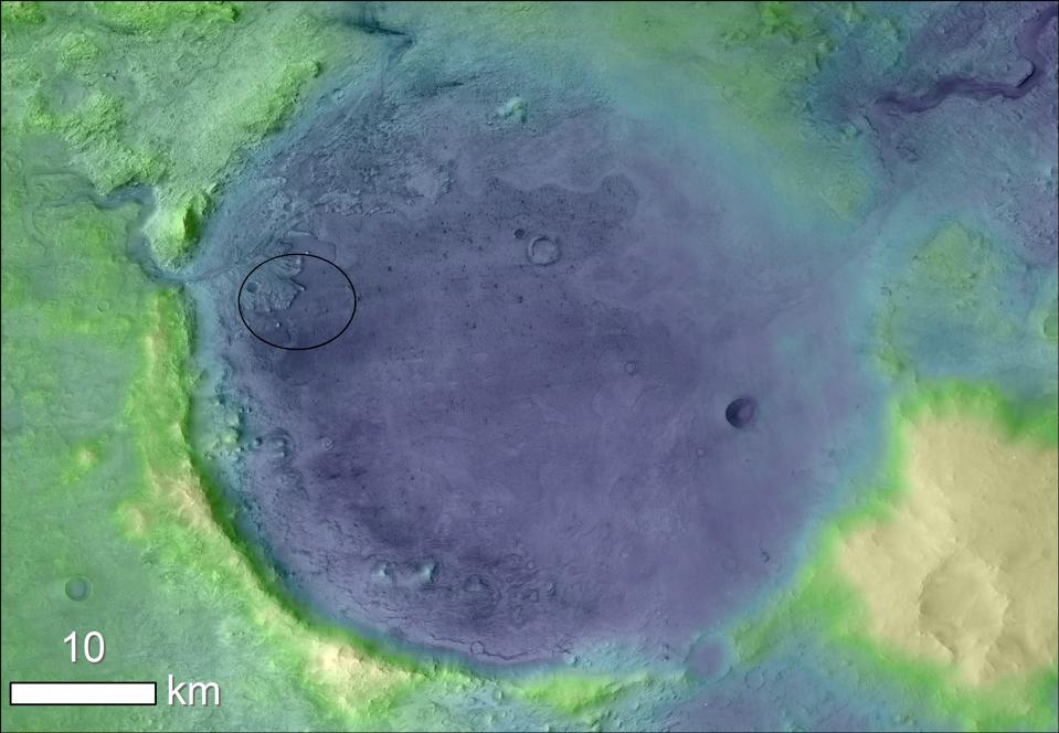 Cratere di Jezero su Marte