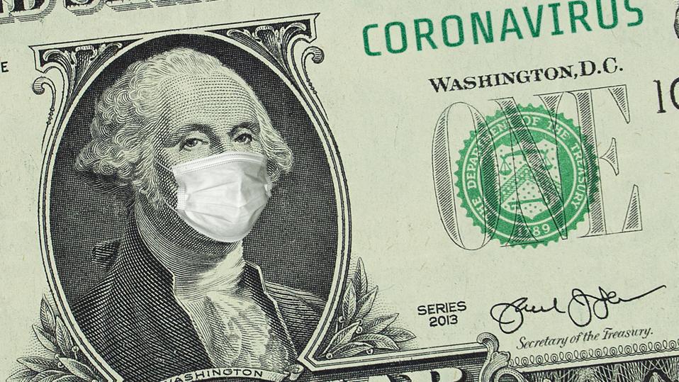 US President Washington in a medical mask