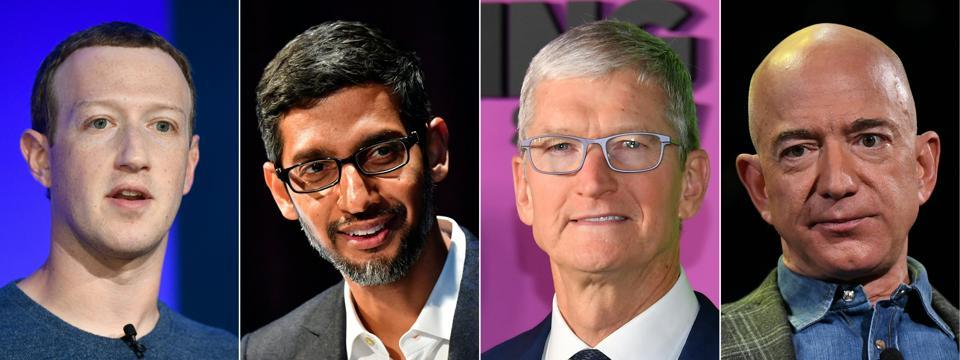 CEOs of Facebook, Google, Apple and Amazon