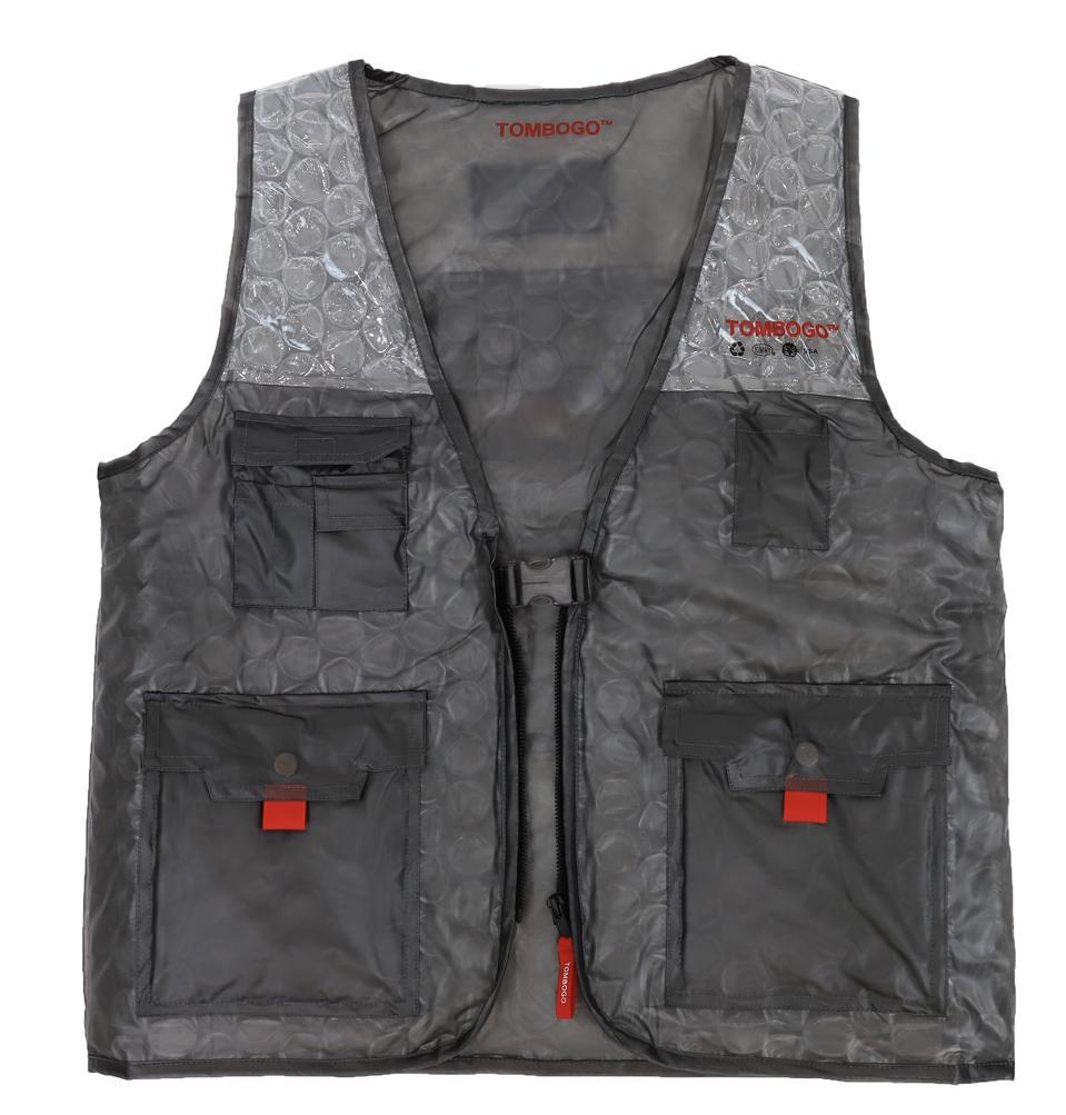 The Bubble Wrap Utility Vest by TOMBOGO™ in Matte Black