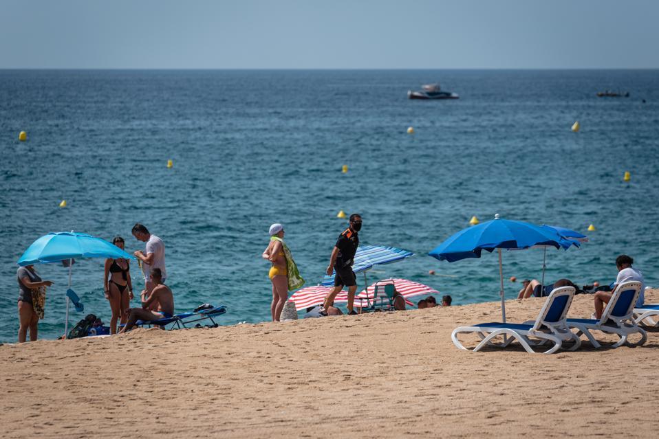 Catalonia beach In Spain during coronavirus
