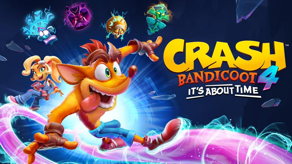 Il logo di Crash Bandicoot 4 It's About Time.