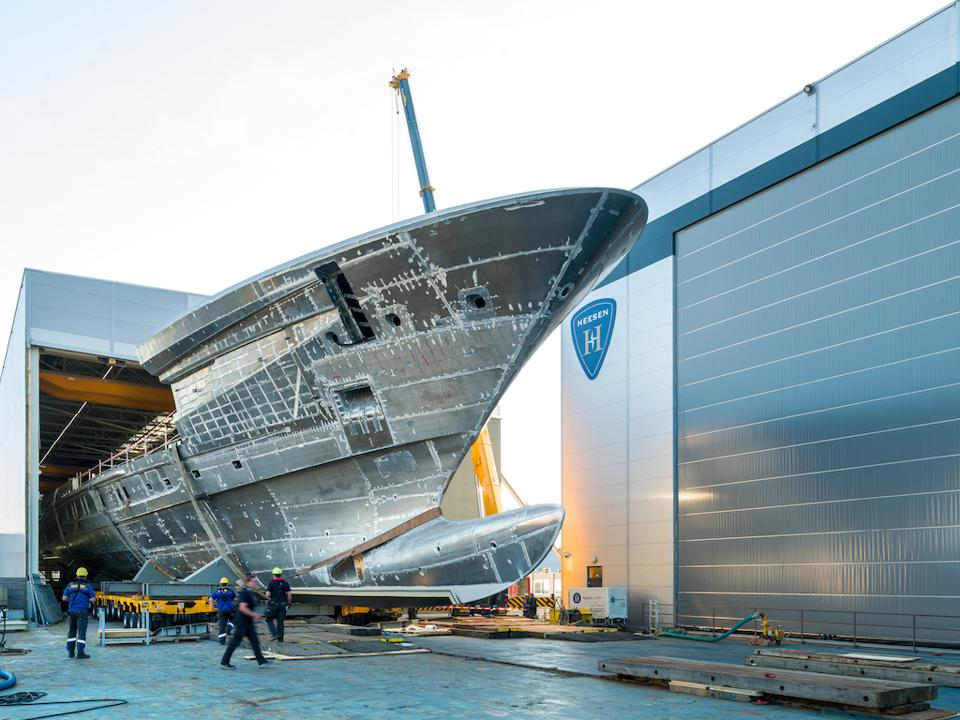 Hessen's Cosmos could be the largest and fastest aluminum superyacht in the world when it is launched.