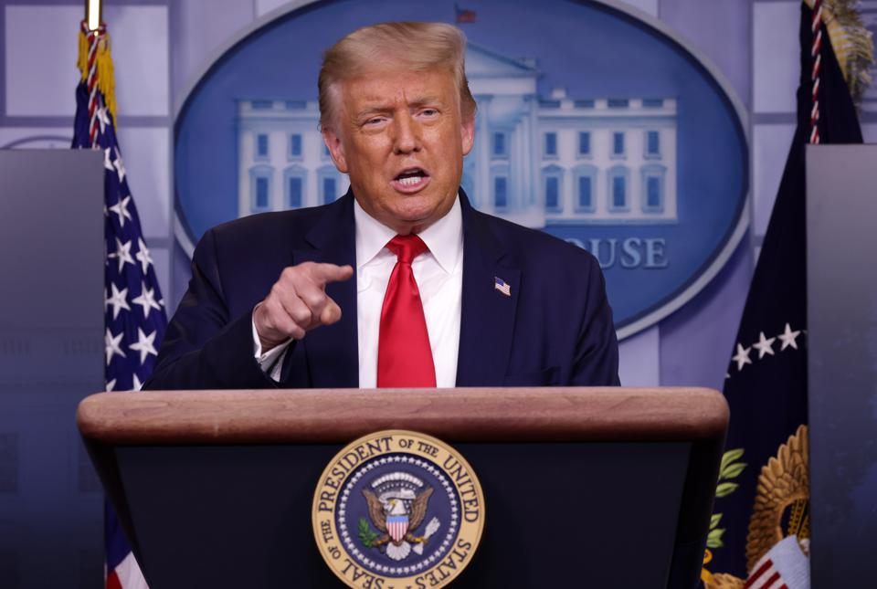 President Trump Holds A News Conference At The White House