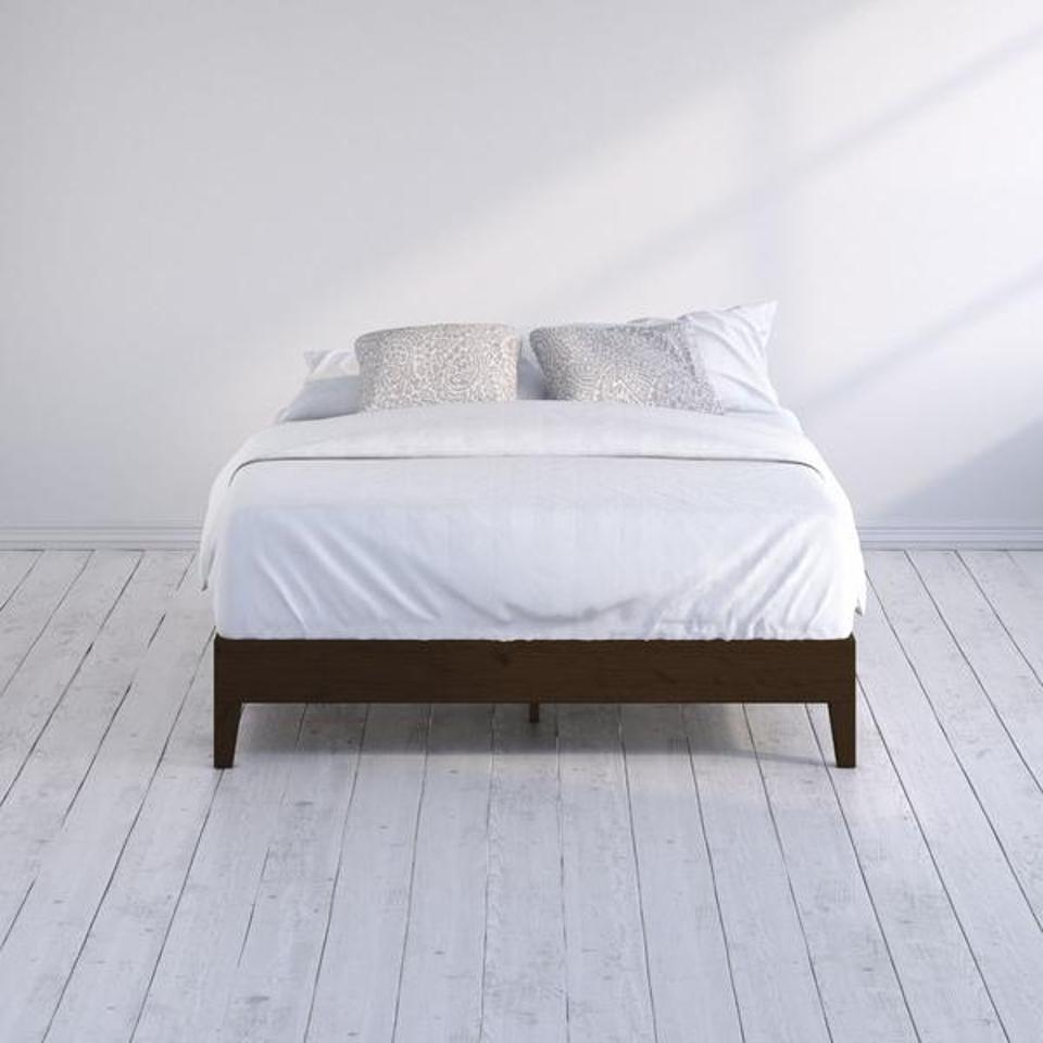Marissa Wood Deluxe Platform Bed Frame
