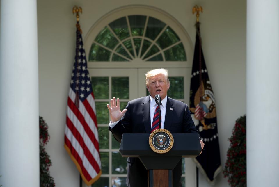 President Donald Trump Delivers Remarks On Modernizing U.S. Immigration