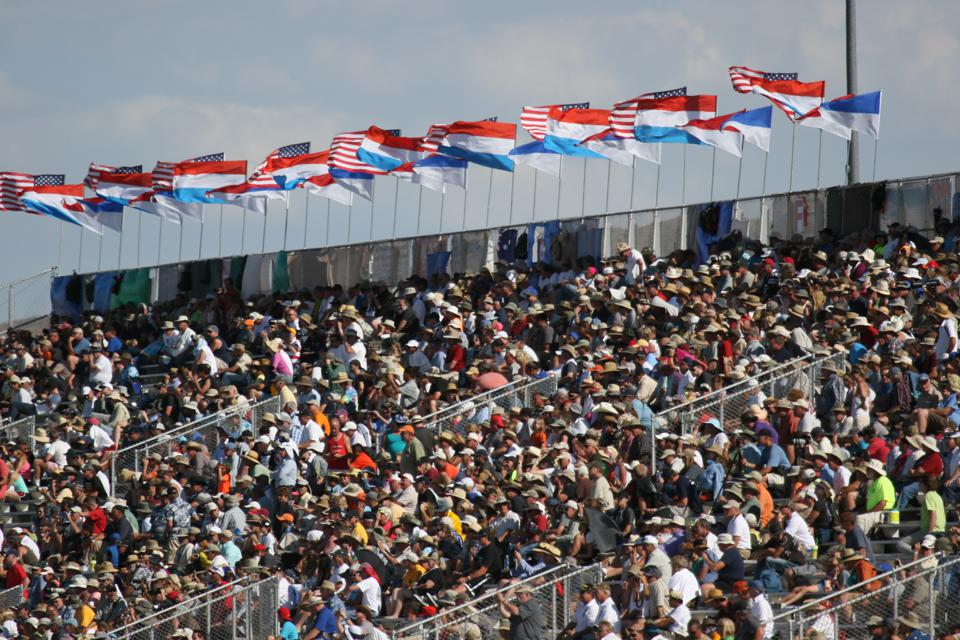 The grandstands at the Reno Air Races.