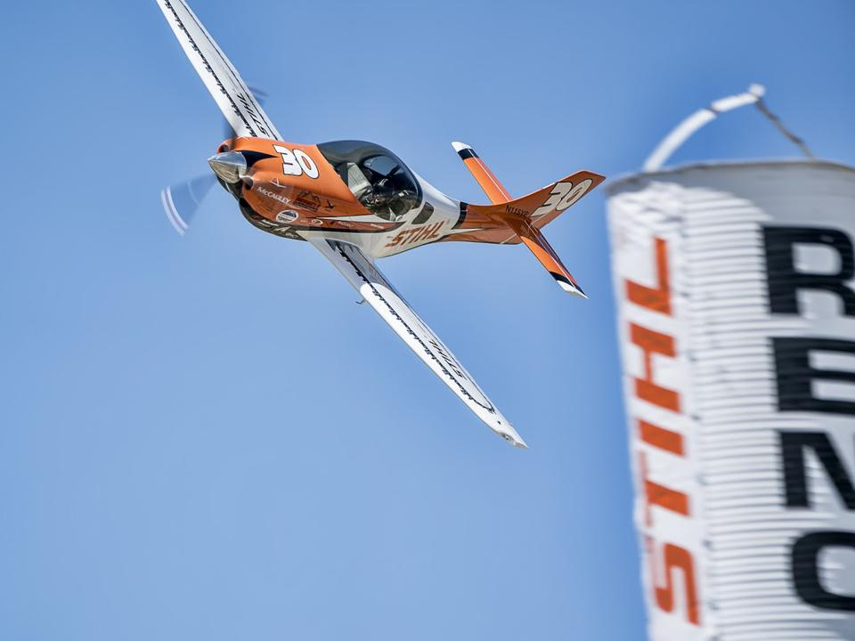 Sport class racer, One Moment, at the Reno Air Races.
