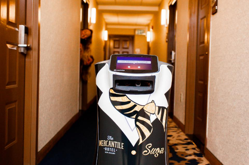 Suga Concierge Robot at The Mercantile Hotel