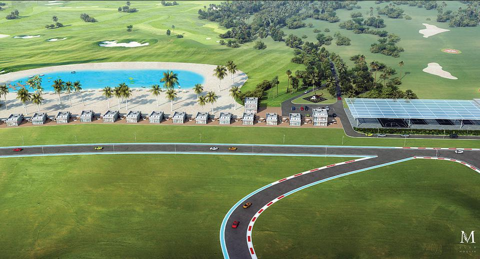 Guest suites and race track at Club Moolia