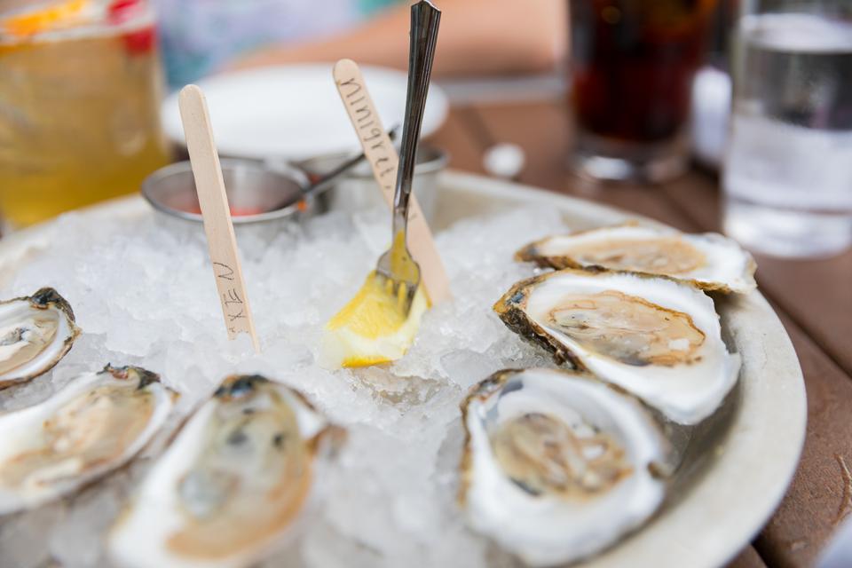 NEWPORT, RI - A half dozen oysters at Midtown Oyster Bar