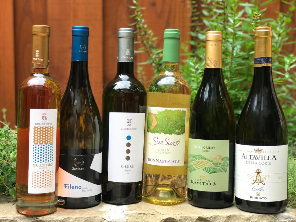 A few examples of Sicily's Grillo wines
