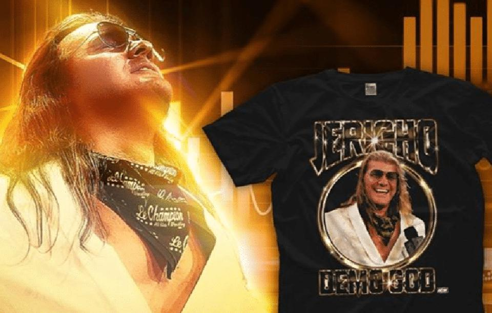 AEW has released a series of Chris Jericho ″Demo God″ t-shirts in response to his positive impact on the ratings war.